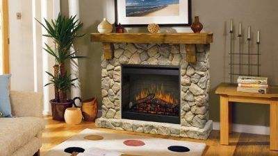 An electric fire, installed by our team